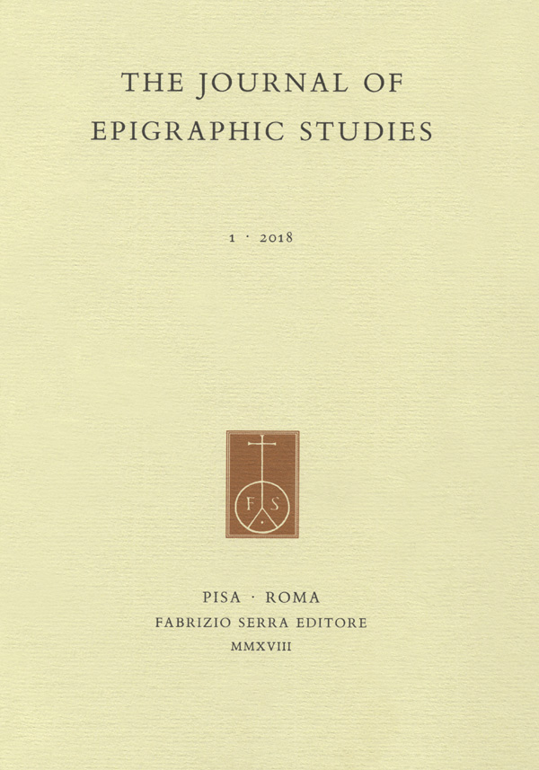 The Journal of Epigraphic Studies cover